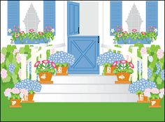 """Maine Note Cards by J & J Graphics  """"Summer Garden"""""""
