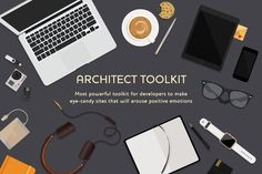 Powerful Toolkit For Web Architects by AuraThemes on @creativemarket