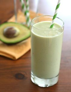 Avocado Green Tea Smoothie - healthy sugar free smoothie with wonderful fresh flavours. A great breakfast or post workout refueling snack!