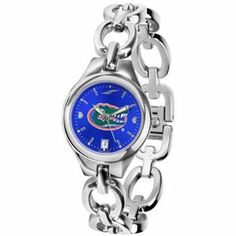 NCAA Florida Gators Ladies Stainless Steel Eclipse Open Link Watch by Football Fanatics. $94.95. Florida Gators Ladies Stainless Steel Eclipse Open Link WatchPre-packaged caseTeam logo and colorsJewelry claspReady to wrapImportedWater resistant up to 5 ATMStainless steel strapLuminescent hand and face markingsOfficially licensed collegiate product3-hand quartz analog movementStainless steel strapJewelry claspWater resistant up to 5 ATM3-hand quartz analog movementTeam logo and c...