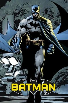 A fantastic Batman poster! The Caped Crusader is a legendary DC Comics superhero! Art by Jim Lee. Check out the rest of our excellent selection of Batman posters! Need Poster Mounts. Batman Poster, Batman Comics, Héros Dc Comics, Dc Comics Poster, Comic Poster, A4 Poster, Batman Arkham Origins, Batman Cape, Im Batman