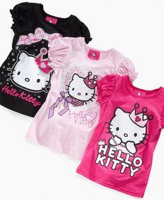 You can never have enough Hello Kitty.  Hello Kitty Kids T-Shirt, Little Girls Crown Tees - Kids Girls 2-6X - Macy's $9.99 #MacysBTS