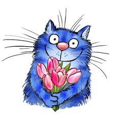 Little Girl Illustrations, Neko Cat, Blue Cats, Doodle Art, Cat Art, Love Art, Emoji, Cats And Kittens, Character Art