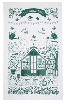 Gardening Cotton Tea Towel
