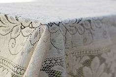 Callie Vintage Lace Tablecloth, vintage linens for rent Dish Wish California & Hawaii Event Rentals, vintage linens for wedding, vintage bridal shower, vintage lace, lace wedding