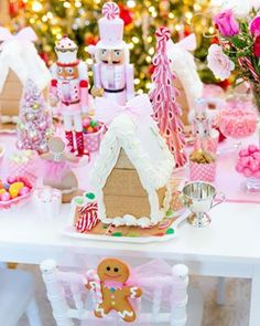So many of you have sent pictures of your Pizzazzerie-inspired gingerbread houses, our full DIY and video went up last week. Gingerbread House Icing, Gingerbread House Parties, Gingerbread Decorations, Christmas Gingerbread, Nutcracker Christmas, Pink Christmas, Christmas Candy, Christmas Parties, Carousel Birthday Parties