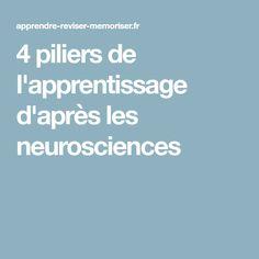 4 piliers de l'apprentissage d'après les neurosciences