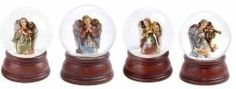 "Set of 4 Joseph's Studio Musical Angel Christmas Snow Globe Glitterdomes by Roman. $147.99. From the Joseph's Studio Glitterdome CollectionItem #36581Features intricately detailed angel figures with an inspirational Joy, Hope, Peace or Noel banner atop a brown baseEach winds up to play the tune: ""The First Noel"", ""Joy To The World"", ""Silent Night"" or ""Hark! The Herald Angel's Sing""Dimensions of each glitterdome: 5.5""H x 4""W x 4""DMaterial(s): resin/glassGlobe i..."