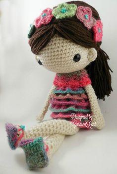 Claudia Amigurumi Doll Crochet Pattern PDF by CarmenRent on Etsy