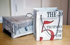Newspaper Gift Bags Eco-friendly Craft |Sustainable Products | Planet Forward Sustainable products