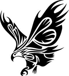 Wall Decals Vinyl Decal Sticker Murals Decor Animals Birds Tribal Eagle The size of the decal is - The size shown in the picture may not reflect the true size. It is for the showing purpose. Tribal Tattoos, Eagle Tattoos, Tatoos, Polynesian Tattoos, Stencil Art, Stencils, Bird Stencil, Adler Tattoo, Phönix Tattoo