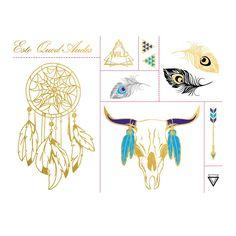 Esto Quod Audes - Native Metallic Temporary Tattoo Set