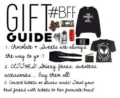 """""""Gift Guide: #BFF"""" by addicted-to-a-memory ❤ liked on Polyvore featuring Converse, Hot Topic, Samsung, WithChic, Disturbia, Ballard Designs and giftguide"""