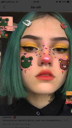 Edgy Makeup, Clown Makeup, Cute Makeup, Pretty Makeup, Makeup Inspo, Makeup Art, Halloween Makeup, Makeup Inspiration, Kawaii Makeup