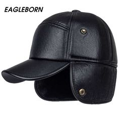 2018 Men winter hats PU leather baseball cap men protect ear fur bomber hats  snapback casquette outdoor Keep warm dad hat gorras 91c86d0addf9