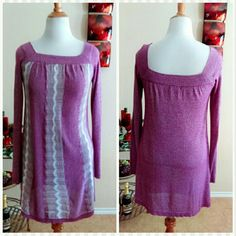 Fuchsia Shift Sparkle Dress NWOT Cute pull on dress with metalic threading. Dress was never worn just tried on. Tag says L but it fits one size smaller as the brand is a Jr. Brand. Cute and simple. Fuchsia/Purple in color. Hits below knees on most. Rampage Dresses