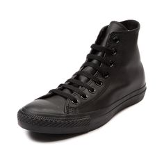 Shop for Converse All Star Hi Leather Sneaker in Black Mono at Journeys Shoes. Shop today for the hottest brands in mens shoes and womens shoes at Journeys.com.The original Old School athletic shoe is still cool. Some things dont change because they dont need to. Leather upper.Available only online at Journeys.com!Please note that this shoe runs a half size large.