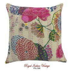 "DIY Home Decor Kantha Pillow Case Decor 16"" PL38"