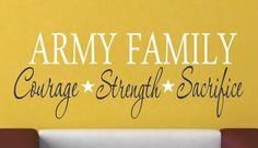 Military Family Vinyl Wall Decal - Military Decor - Vinyl Wall Art. $16.00, via Etsy.