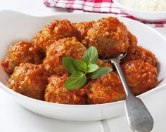 The the oh-so-yummy LUCKY'S LUSCIOUS MEATBALLS from the new #TheLuckySantangeloCookbook - Click the pic for the recipe.