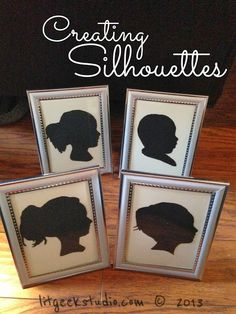 Creating silhouettes with your Silhouette Cameo or Portrait