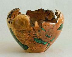 Richard Fitzgerald, Artist, wood with malachite inlay, hand rubbed finish