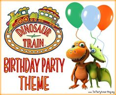 Dinosaur Train Birthday Party Theme - games, cake, cupcakes, and decorations