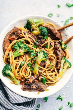 has melt in your mouth tender beef with broccoli, carrots, and noodles. The sauce adds such amazing flavor to this incredibly easy meal!