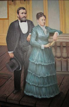 Grant and Julia painting.