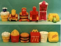 McDonald's vintage toys from the happy meals! I had them all except for the custard and milkshake!