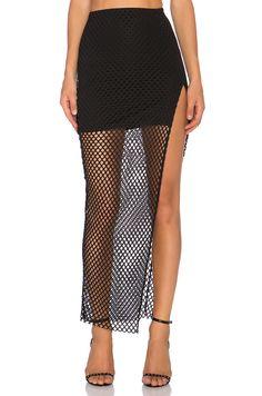 8580451b3a  REVOLVEclothing Long Slit Skirt