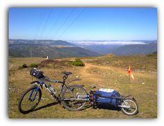 Remolque de bicicleta casero