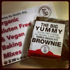 Jenny Bradley of Vegansarus LOVES our Big Yummy Gluten Free Vegan Brownies!  Find them at a California store near you: http://www.wholesomechow.com/the-big-yummy-gluten-free-brownie.html