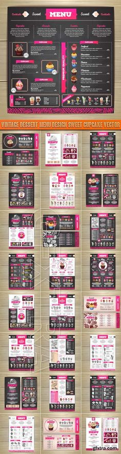 Vintage dessert menu design sweet cupcake vector http://webtutorsliv.ml/threads/vintage-dessert-menu-design-sweet-cupcake-vector.10694/