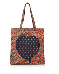 Marc by Marc Jacobs Fold Away Heart Nylon Floral Print Shopper Tote Bag - $67