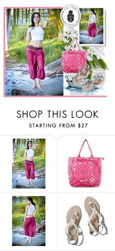 """""""Coral Aladdin Pants"""" by car69 ❤ liked on Polyvore featuring Abercrombie & Fitch, women's clothing, women's fashion, women, female, woman, misses, juniors and OneTribeApparel"""