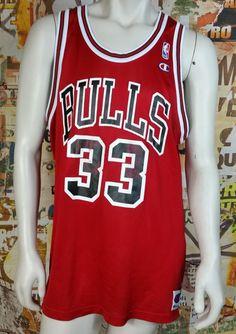 ae7b6f238 Scottie Pippen Vintage Champion Jersey Chicago Bulls NBA Jordan Rare Mens  48 Vintage Champion