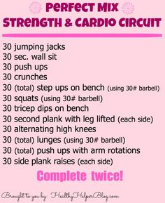 strength/cardio circuit