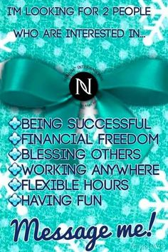 Do you want time freedom & residual income? Nerium AD, A REAL Opportunity with REAL People, REAL Science, REAL Results. Make $ join my Team and become a Brand Partner and start your own business! www.akellogg.nerium.com