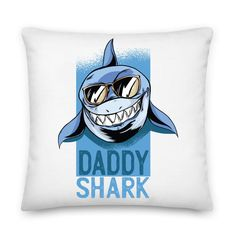 Throw Pillow Cases, Throw Pillows, Pillow Inserts, Shark, Daddy, Printing, Zipper, Products