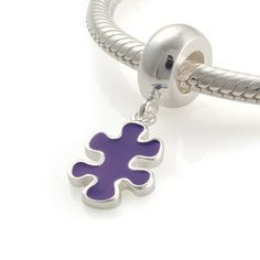 Authentic Sterling Silver Puzzle Piece Charms by ChainsCharms, $12.99