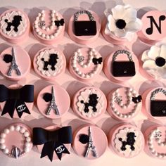 Glam night in Paris themed chocolate covered oreos