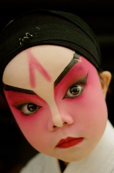 Little Chinese Opera Performer by Dora Hon
