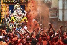 Ganesh Chaturthi is celebrated to honour the elephant-headed god, Ganesha. This festival is observed in the Hindu month of Bhadra. Festivals Of India, Indian Festivals, Ganpati Visarjan, Pune Ganpati, Bangladesh Travel, Ganesh Utsav, Elephant Head, Tourist Places, Happy Diwali
