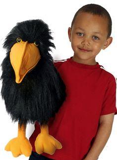 PuppetU.com - Crow Bird Full Body Hand Puppet, $19.99 (http://store.puppetu.com/crow-bird-full-body-hand-puppet/)