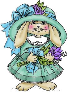 Bunny Girl Stamp Cling Rubber by Art Impressions Basket Drawing, Somebunny Loves You, Easter Specials, Cute Clipart, Art Impressions, Vintage Easter, Digi Stamps, Cute Bunny, Easter Crafts