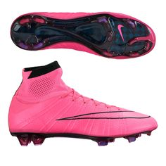 Real Men wear Pink. As your opponents look at your feet, blow past them with the deadly speed of the Nike Mercurial Superfly IV soccer cleats. The dynamic fit collar, flyknit upper, and flywire are all designed to help you play faster. Order your new pair of Nike soccer cleats today at SoccerCorner.com http://www.soccercorner.com/Nike-Mercurial-SuperFly-IV-FG-Soccer-Cleats-p/sm-ni641858-660.htm