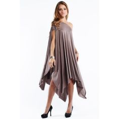 """""""Libra"""" Asymmetrical Poncho Dress Asymmetrical poncho dress. Can be worn on or off shoulder. This is an actual picture of the item - all photography done by me. Available in mocha, black and navy. This listing is for the MOCHA. Brand new. Bare Anthology Dresses"""