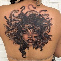 Beautiful Medusa Tattoo! http://www.tattoo.com/rise-above-tattoo-co