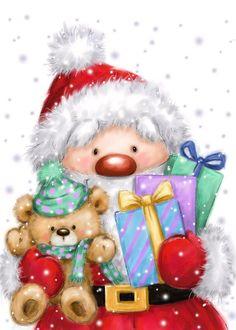 Christmas Canvas, Christmas Art, Christmas Presents, Vintage Christmas, Christmas Graphics, Christmas Images, Christmas Signs, Christmas Decorations, Illustration Noel